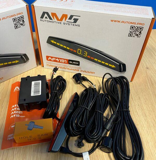 Паркувальний радар (парктронік) AMS AF4191 Black