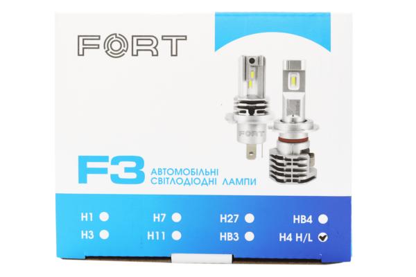 LED лампа FORT F3 H4 H/L CSP